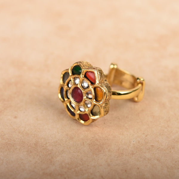 NAVRATNA BLOOM RING
