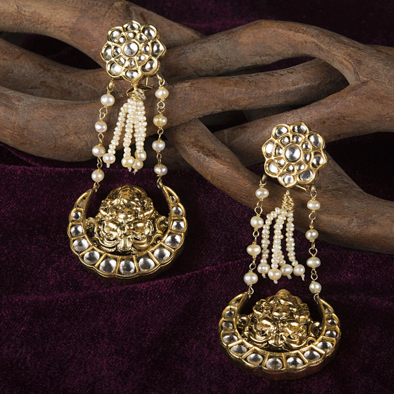 THE PEARL GANPATI EARRINGS