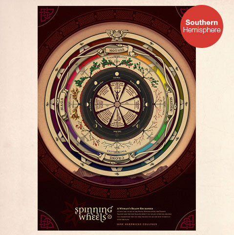 Southern Hemisphere Spinning Wheels A2 Poster