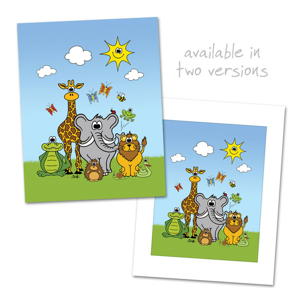 CUTE ANIMALS GROUP Art Print