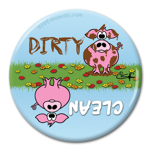 CLEAN/DIRTY PIG Dishwasher Magnet