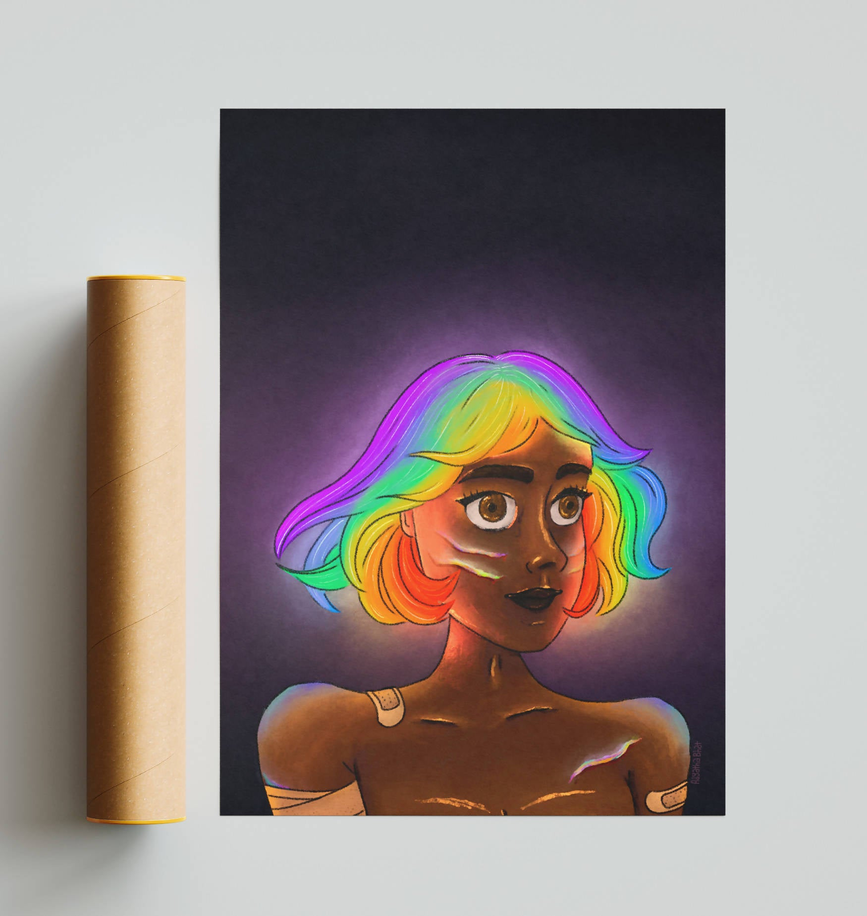 Rainbow Poster - A3