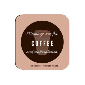 Hopper's Coffee Quote - Coaster | Yellow Orchids