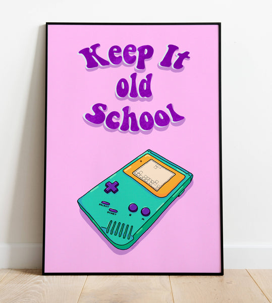 Gameboy Poster - A4 Frame