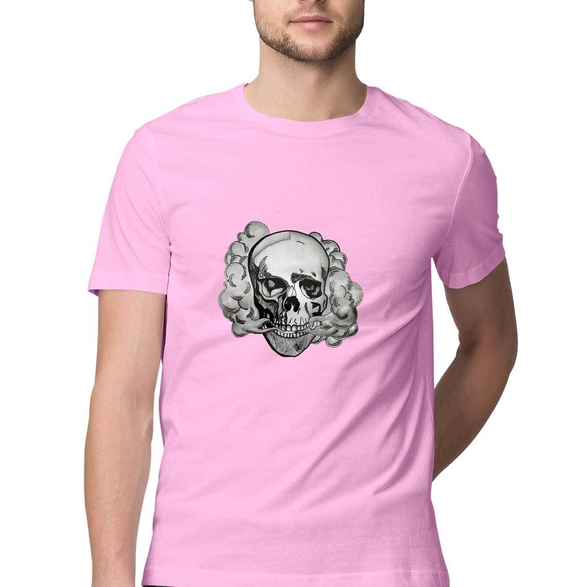 Smoky Skull Men's T Shirt