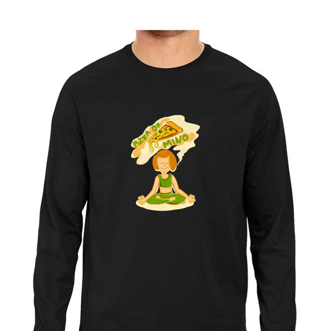 Pizza of Mind Men's Full Sleeve T Shirt - Adyatha Bhat