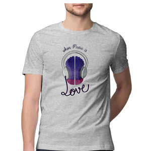 Music is Love Men's T Shirt - Artdoor