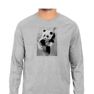 Panda Men's Full Sleeves T Shirt - Rajat Lakhera