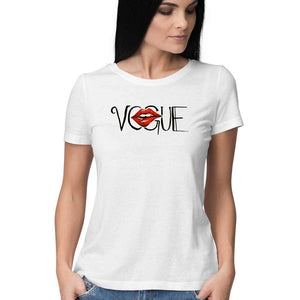 Vogue Women's White T Shirt-Nikhita Nair - 21 AD