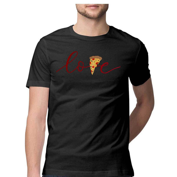 Pizza Love men's T Shirt-Gayathri Sunil - 21 AD