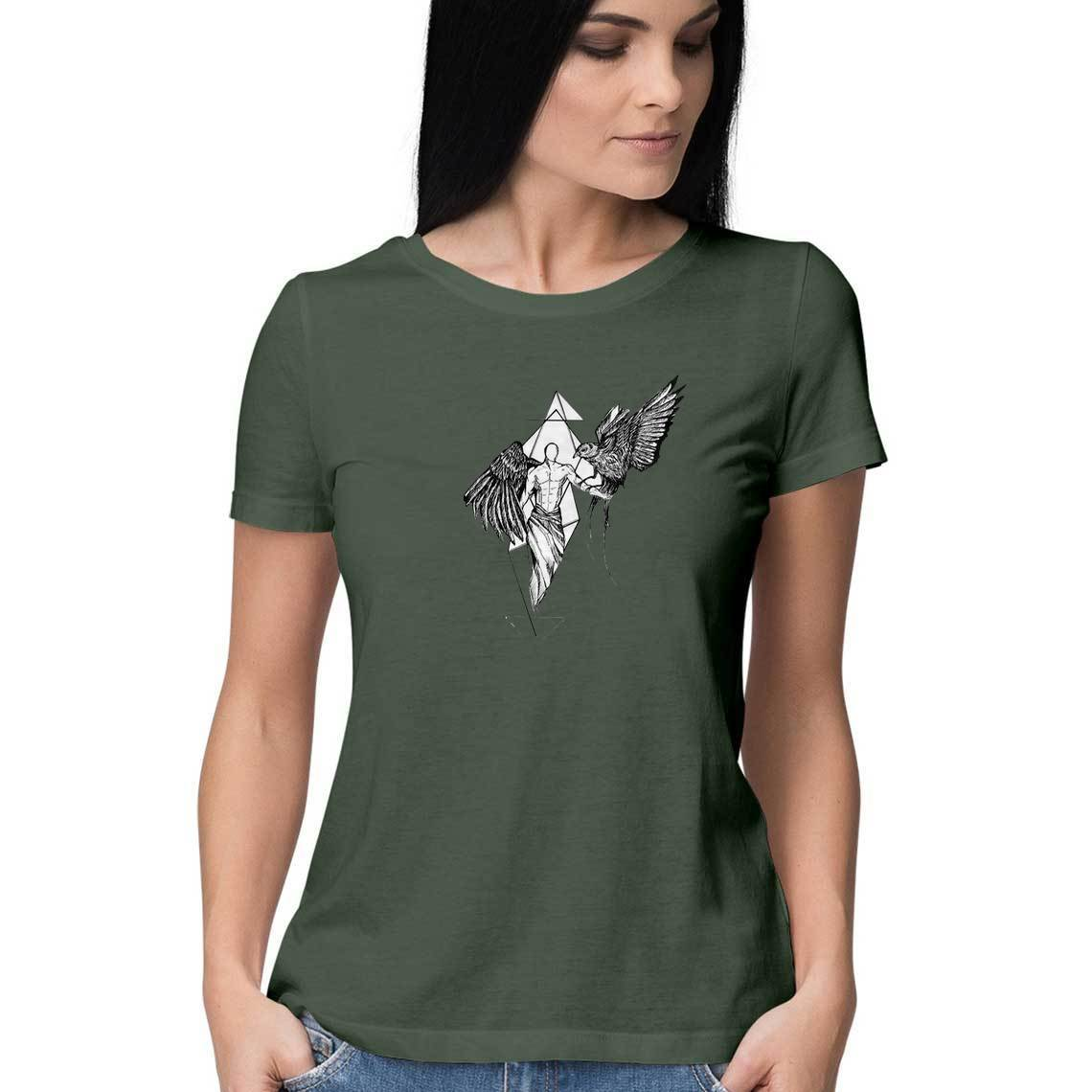 ArchAngel women's Half sleeves T shirt -Anushua Chakraborty - 21 AD