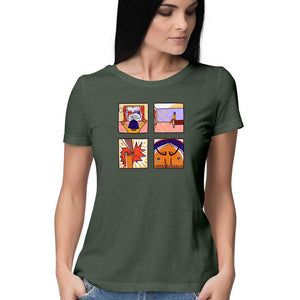 Comic women's half T shirt - Sudeshna