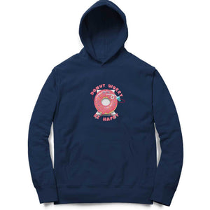 Donut Worry Be Happy Hoodie-Cosmic Lemon