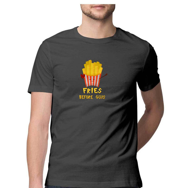Fries Before Guys men's T Shirt-Cosmic Lemon