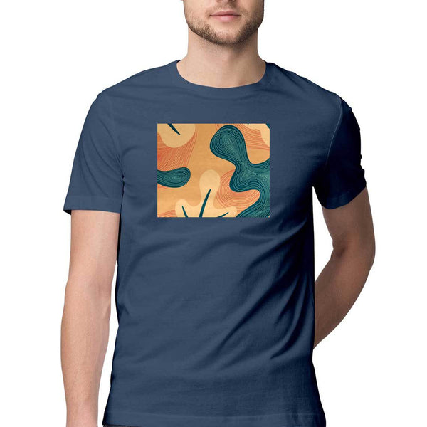 Fall Leaves Half Sleeves Male T-Shirt - Preetha Murthy