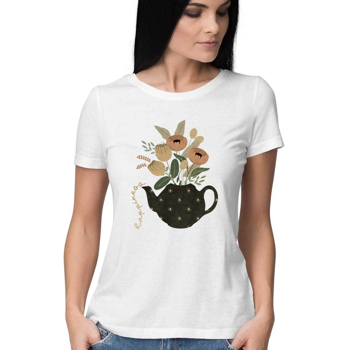 Happiness Teapot Women's Tshirt - The Print Route
