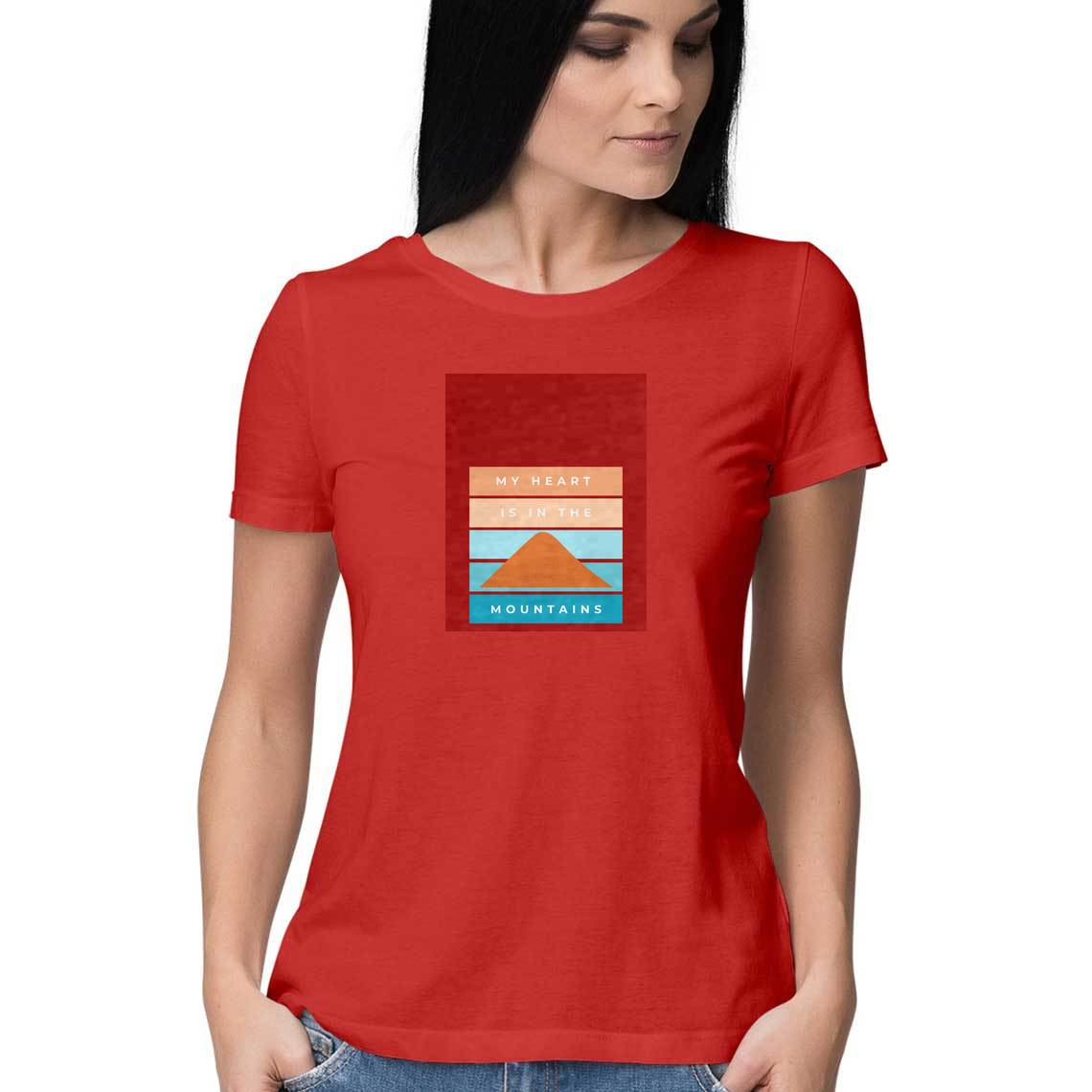Heart in Mountains Women's Travel Tee