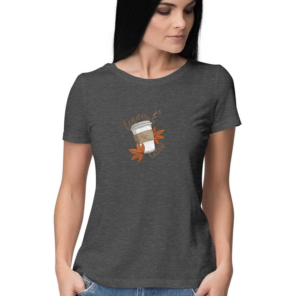 Leaves and Lattes Womens Tshirt - SimranPatankar