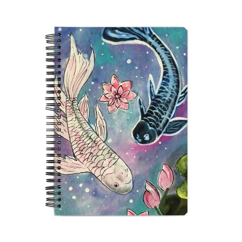 KOI FISH A5 notebook- Tanishka Gupta