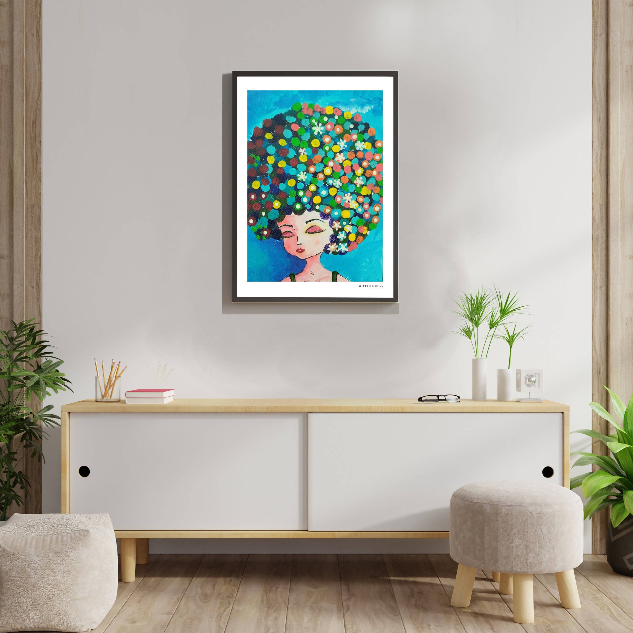 Girl with Highlights - A3 Frame by Artdoor