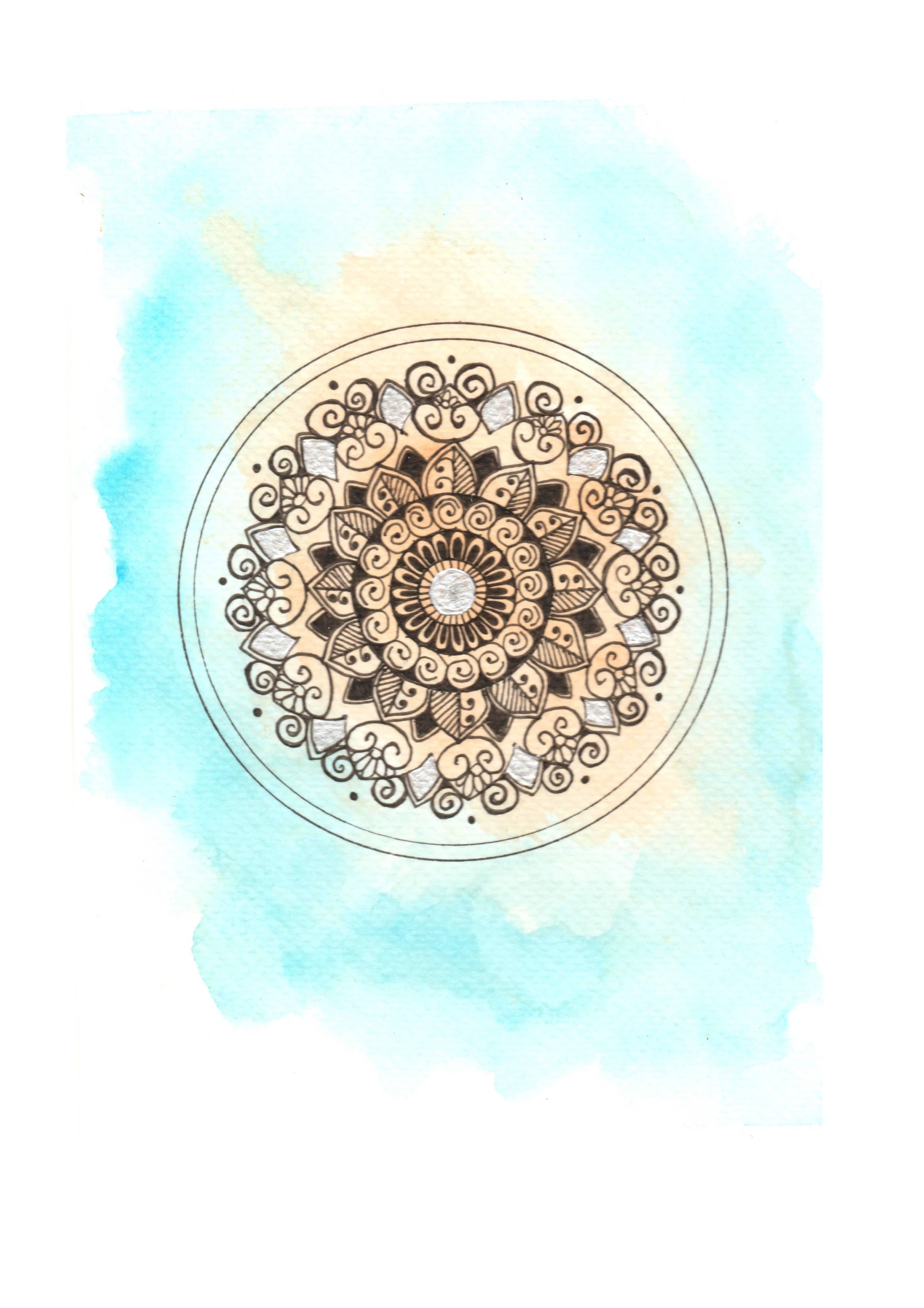 Watercolor mandala notebook - kiranmai