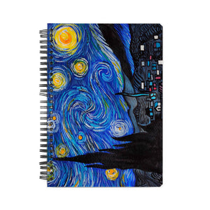 Starry Night A5 Notebook - Chinmayi Hegde