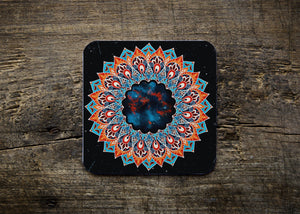 Galaxy Mandala Square Coaster