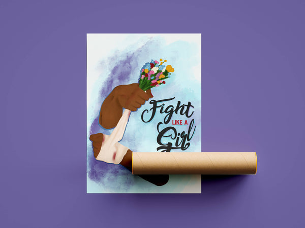 Fight like a Girl Poster - A3