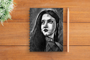 Charcoal Woman Notebook