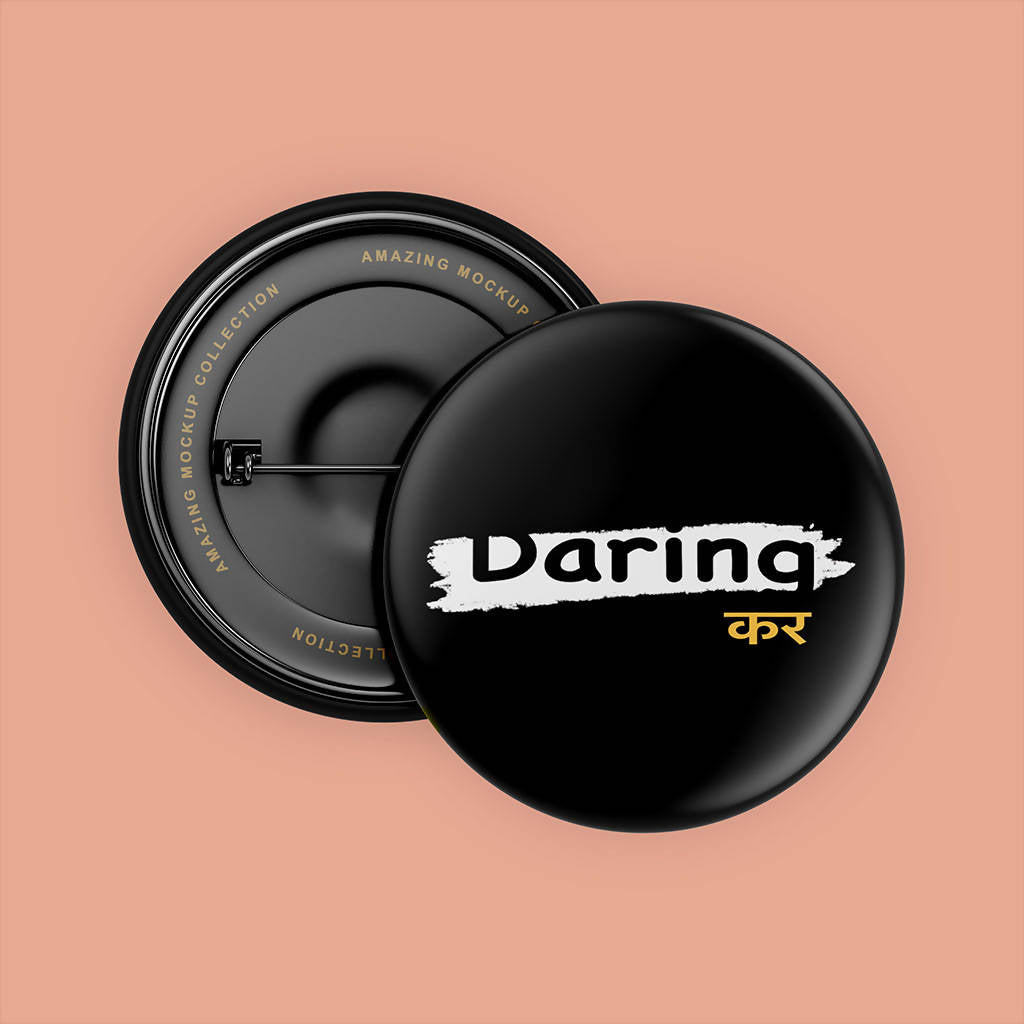 Daring kar Button Badge
