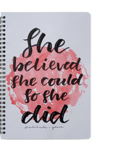 motivational quote Notebook