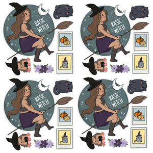 Halloween Witch Stickers