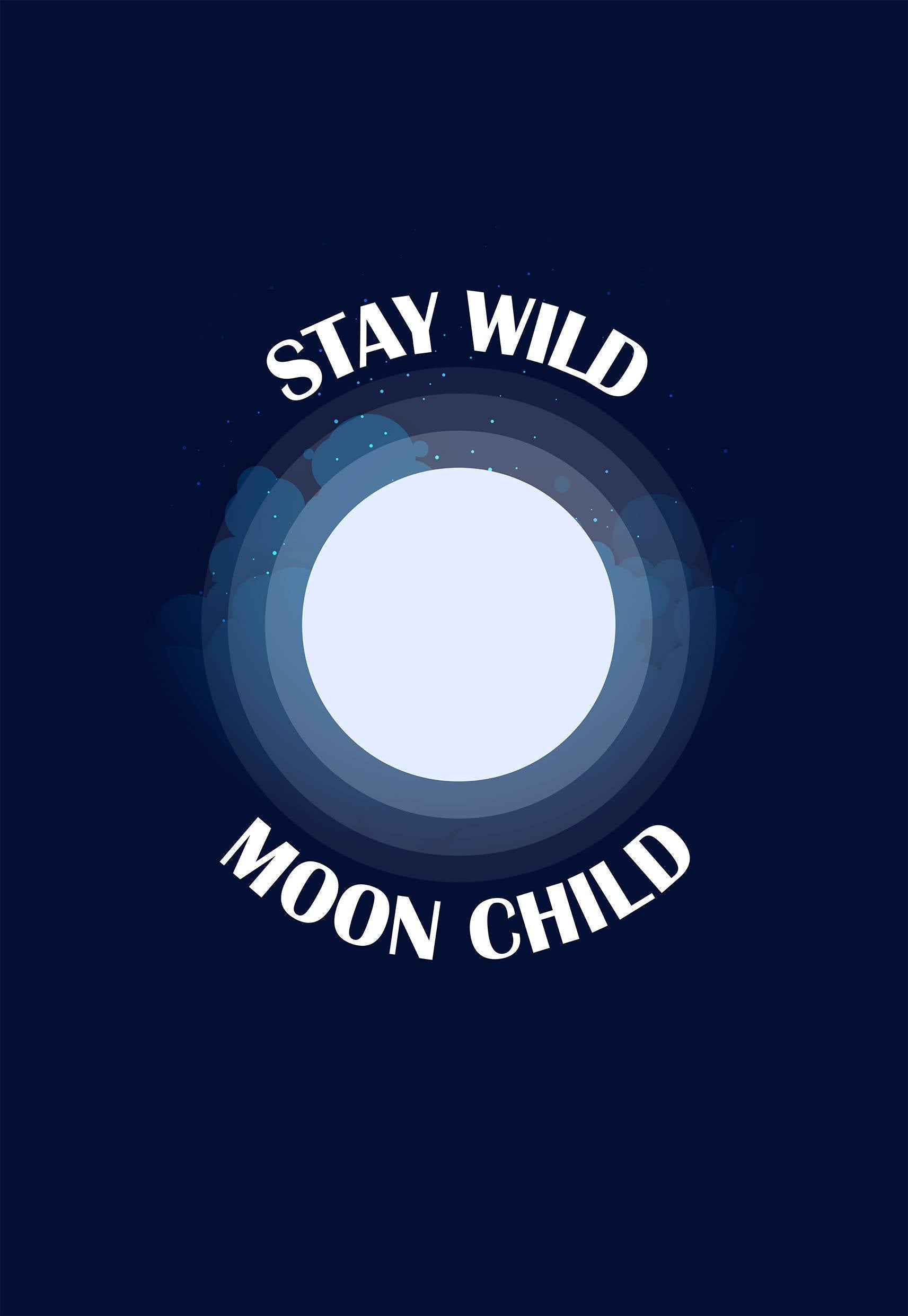 Stay Wild Moon Child Notebook - 21 AD