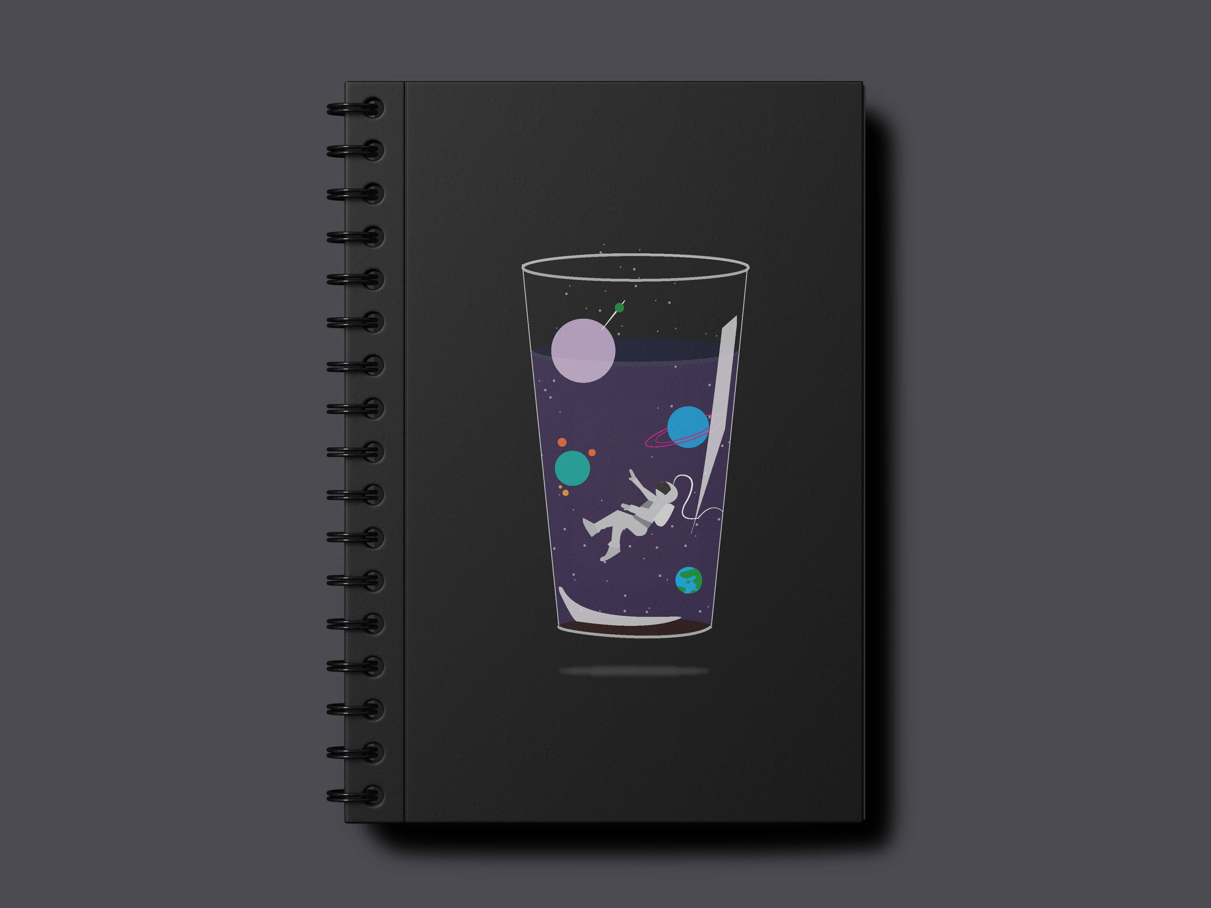 Space-drink A5 Notebook- Minimalist for now