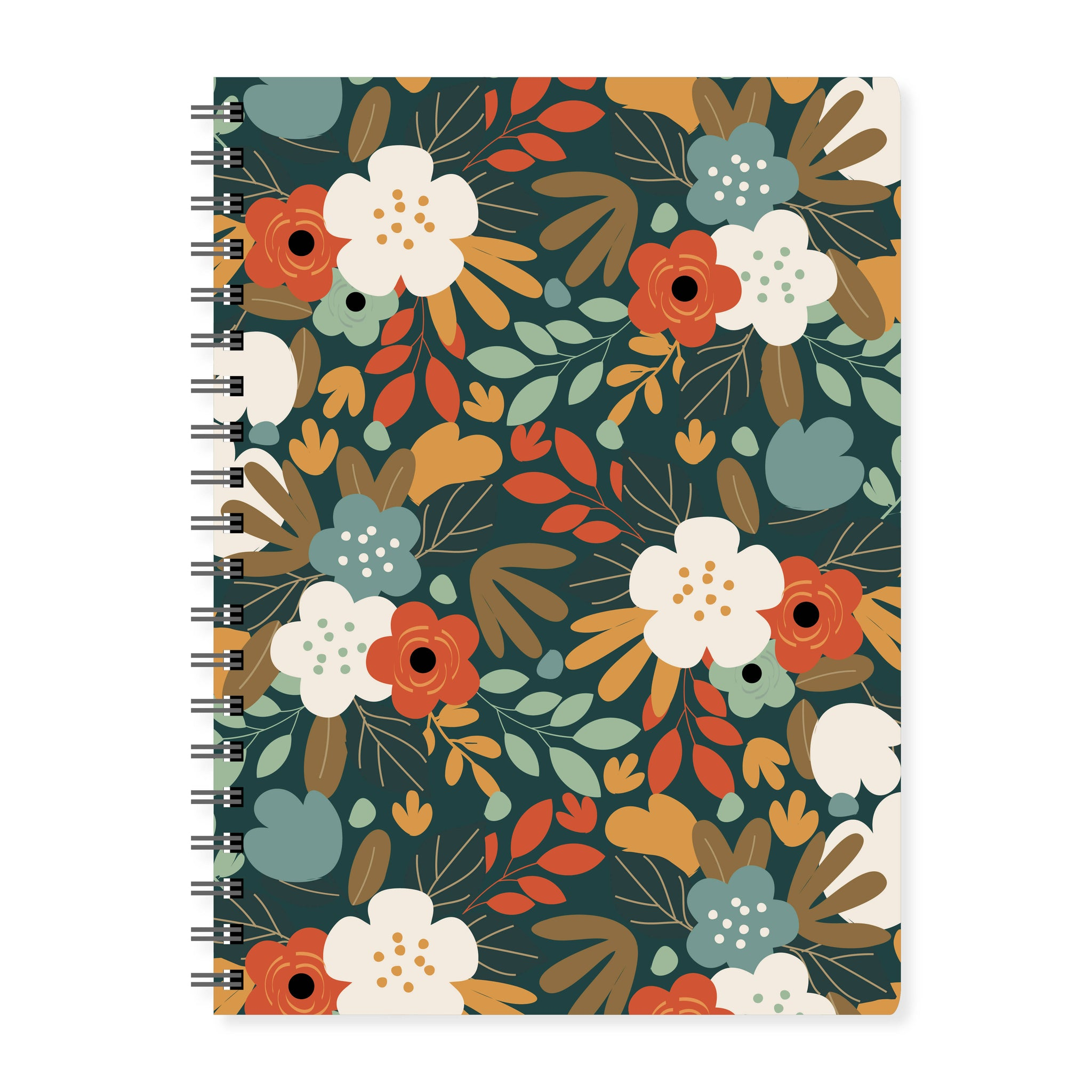 Autumn Floral Notebook - The Print Route