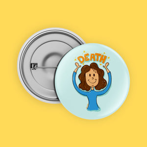Death Girl Button Badge