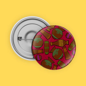 Indian Pots Button Badge