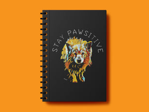 stay pawsitive notebook - 21 AD