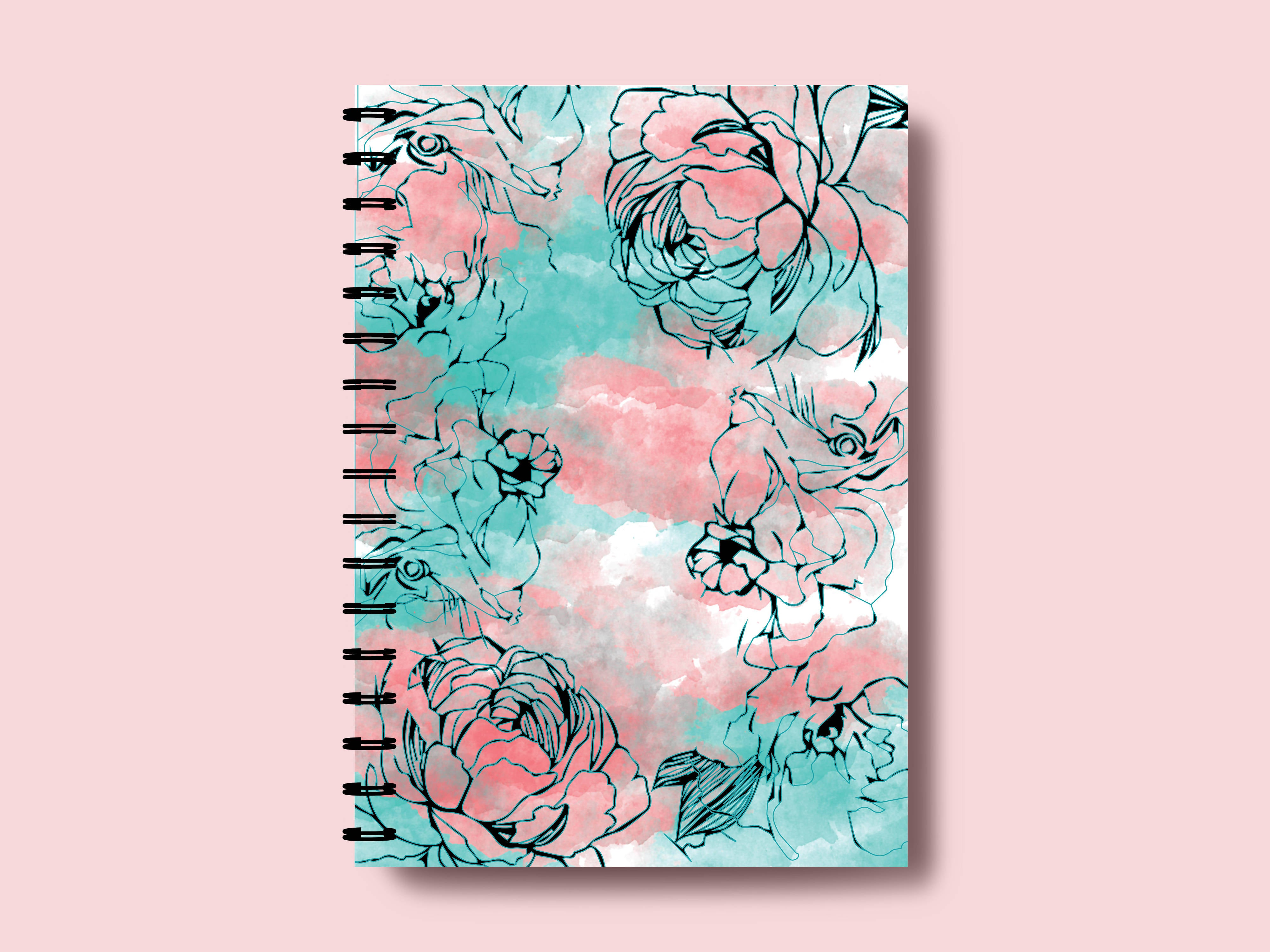 LINE ART FLORAL A5 NOTEBOOK- SONAL