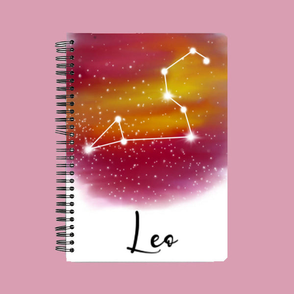 Zodiac series - Leo constellation A5 Notebook - Hrudya