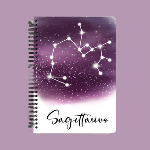 Zodiac series - Sagittarius constellation A5 Notebook - Hrudya