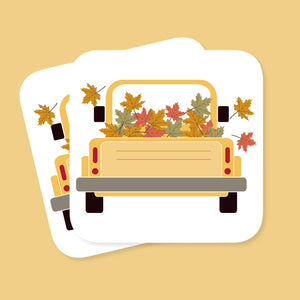 Autumn Truck Coaster - The Print Route