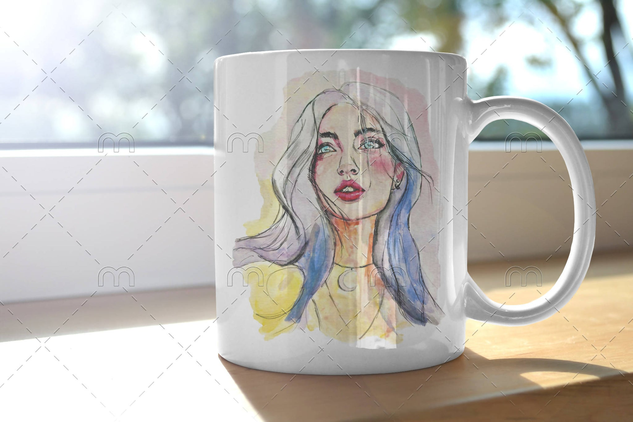 Colourful Woman Mug