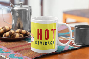 Sheldon's Beverage Quote - Yellow Mug| Yellow Orchids
