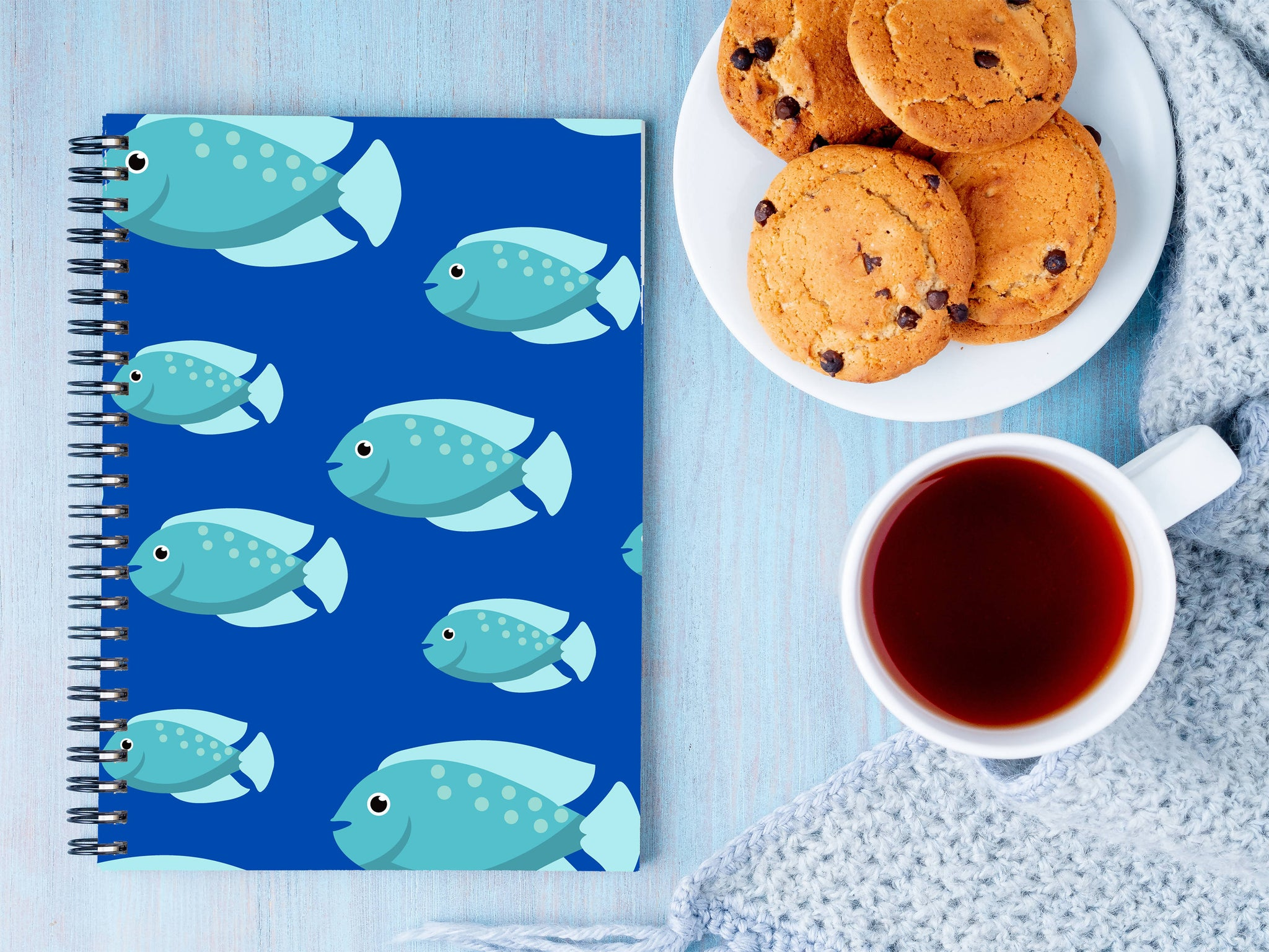 Cute fish A5 Notebook - Shruti Unnikrishnan