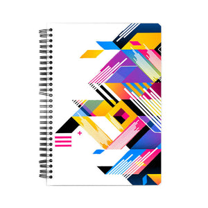 abstract art white background notebook