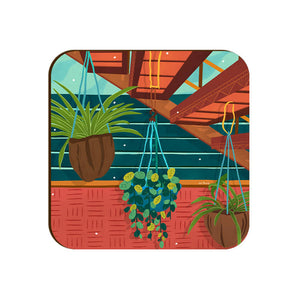 Hanging Plants Coaster-Theinkedge