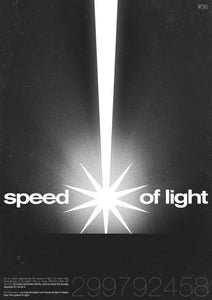 """Speed of Light"" A3 Poster - SHIFT_POSTERS"