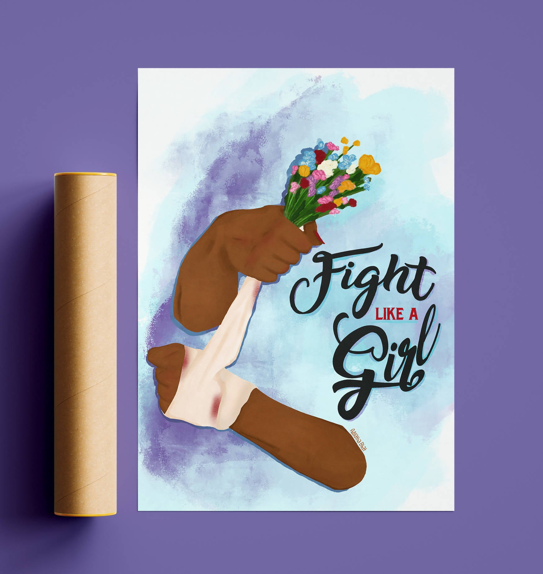 Fight like a Girl Poster - A4