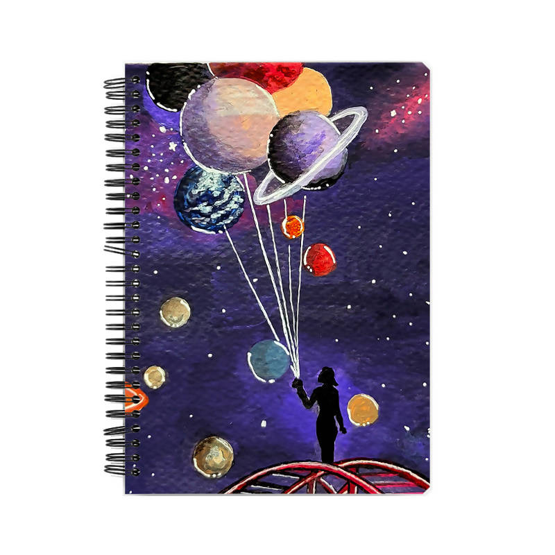 Give me some space A5 Notebook - Chinmayi Hegde